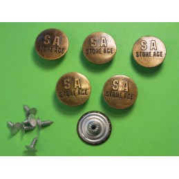 LOT 6 BOUTONS METAL 20mm...