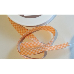 BIAIS POLY-COTON 3 METRES : orange/blanc largeur 20mm