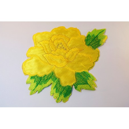 APPLIQUE TISSU THERMOCOLLANT : fleur 150 x130mm