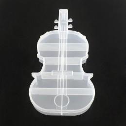 Boite vide plastique forme violon 22*11cm
