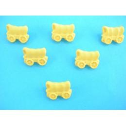 LOT 6 BOUTONS : wagon jaune...