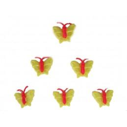LOT 6 BOUTONS : papillon...