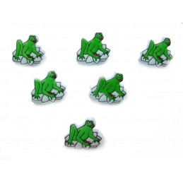 LOT 6 BOUTONS : grenouille...