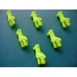 LOT 6 BOUTONS : girafe...