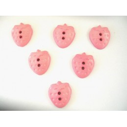 LOT 6 BOUTONS : fraise rose...