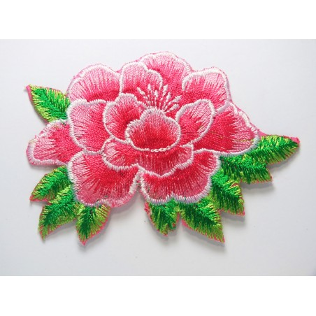 APPLIQUE THERMOCOLLANT : fleur 85 x55mm