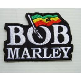 APPLIQUE TISSU THERMOCOLLANT : BOB Marley 105 x75mm
