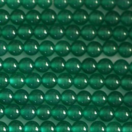 AGATE VERTE VERITABLE : 10 rondes 8mm