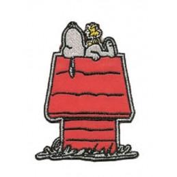 APPLIQUE THERMOCOLLANT : Snoopy sur sa niche 80 x60mm