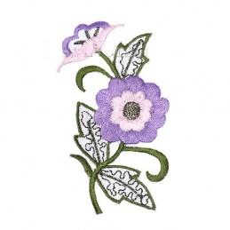 APPLIQUE THERMOCOLLANT :  fleur 85*45mm