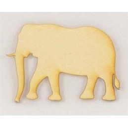 APPLIQUE EN BOIS BALTIQUE : elephant 10x7cm