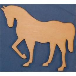 APPLIQUE EN BOIS BALTIQUE : cheval 12x9 cm (n°2)