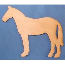 APPLIQUE EN BOIS BALTIQUE : cheval 10x9 cm