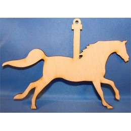 APPLIQUE EN BOIS BALTIQUE : cheval 12x9 cm