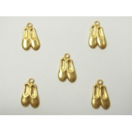LOT 5 CHARMS METALS : Chaussons de danse 12mm
