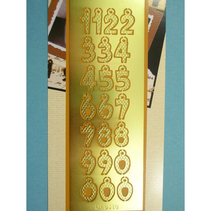 POCHOIR LAITON 160 x60mm : nombres hauteur 18mm