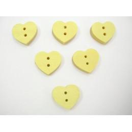 LOT 6 BOUTONS BOIS : coeur...