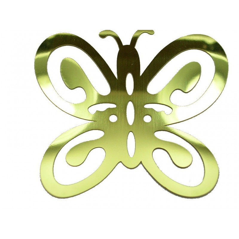 POCHOIR LAITON : papillon 70 x65mm