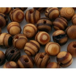 LOT 20 PERLES BOIS : ronde marron10mm
