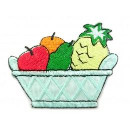 APPLIQUE TISSU THERMOCOLLANT : corbeille fruit 70 x55mm