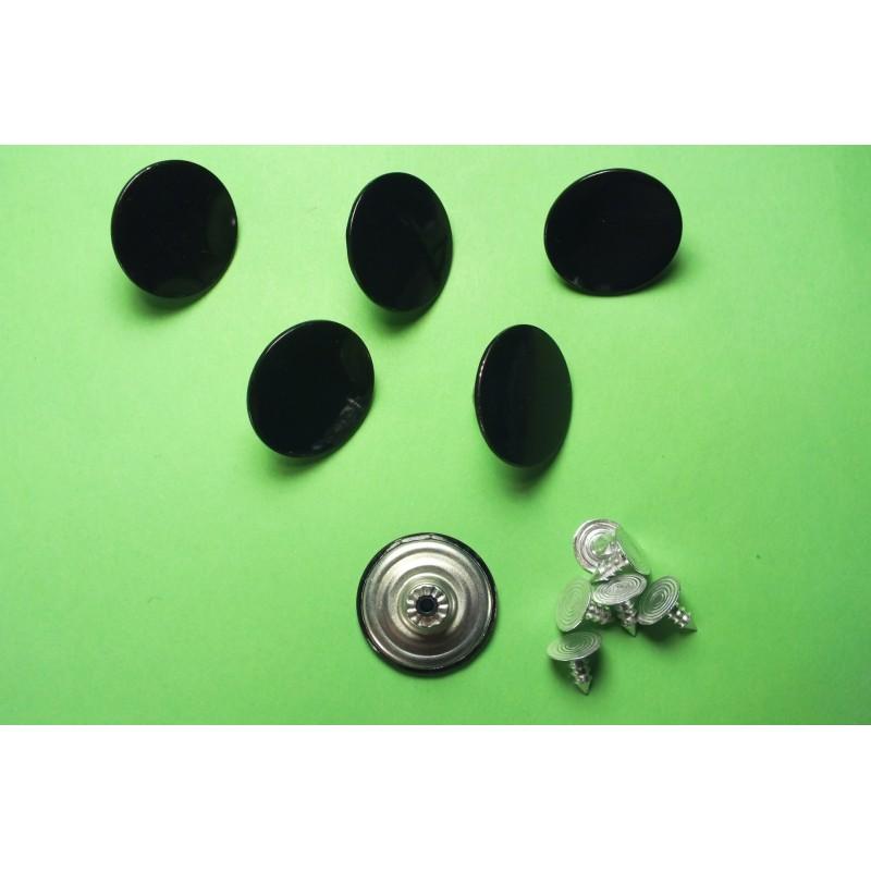 LOT 6 BOUTONS METAL 20mm (n°65) : rond à pression pour jean