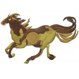 APPLIQUE TISSU THERMOCOLLANT : cheval 180 x130mm