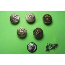 LOT 6 BOUTONS METAL 17mm...