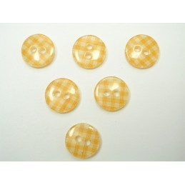 LOT 6 BOUTONS : rond vichy...