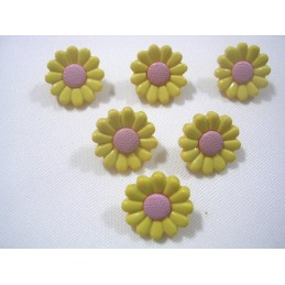 LOT 6 BOUTONS : marguerite...