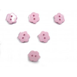 LOT 6 BOUTONS : fleur rose...