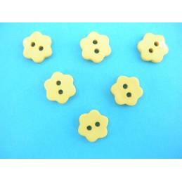 LOT 6 BOUTONS : fleur jaune...