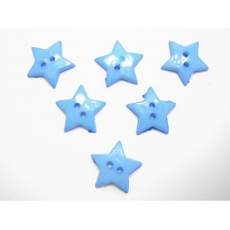 LOT 6 BOUTONS : etoile bleu...