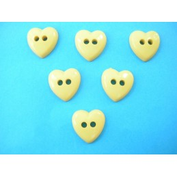 LOT 6 BOUTONS : coeur jaune...