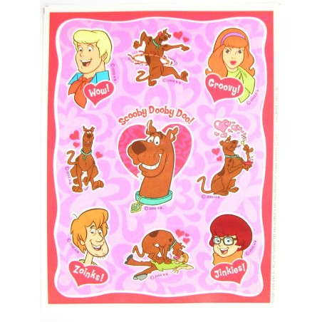 MINIS STICKERS SUR FEUILLE 11 x15CM : Scoobydoo (n°1)