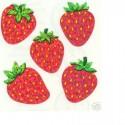 15 MINIS STICKERS SUR FEUILLE 5 x16CM : Motif fraises de 20mm