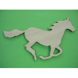 APPLIQUE EN BOIS BALTIQUE CONTREPLAQUE COLLE :cheval 12x7 cm