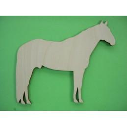 APPLIQUE EN BOIS BALTIQUE CONTREPLAQUE COLLE : cheval 9x10 cm (n°2)