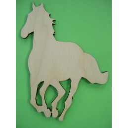 APPLIQUE EN BOIS BALTIQUE CONTREPLAQUE COLLE : cheval 9x10 cm (n°1)