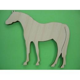 APPLIQUE EN BOIS BALTIQUE CONTREPLAQUE COLLE : cheval 9x7 cm