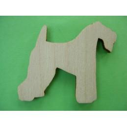 APPLIQUE EN BOIS BALTIQUE CONTREPLAQUE COLLE : chien 4x3cm (n°6)