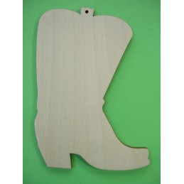 APPLIQUE EN BOIS BALTIQUE CONTREPLAQUE COLLE : botte cavalier