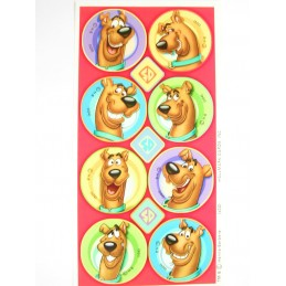 MINIS STICKERS SUR FEUILLE 7 x15CM  : Scoobydoo (n°2)