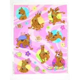MINIS STICKERS SUR FEUILLE 11 x15CM  : Scoobydoo (n°2)