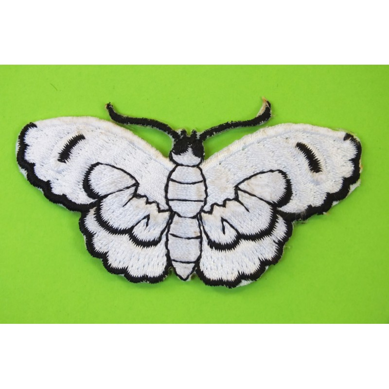 APPLIQUE TISSU THERMOCOLLANT : papillon 75 x35mm