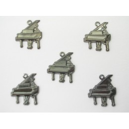 LOT  5 CHARMS METALS NOIRS...