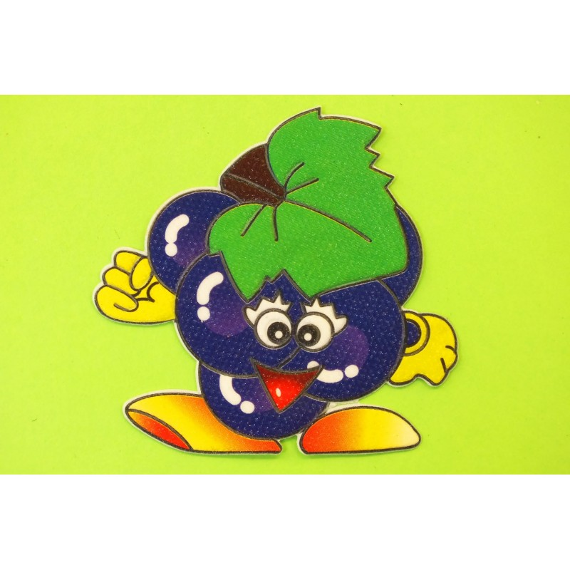APPLIQUE TISSU THERMOCOLLANT : fruit déguisé raisin 65 x60mm
