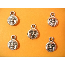 LOT  5 CHARMS METALS : Lune...