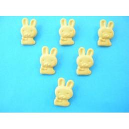LOT 6 BOUTONS : lapin jaune...