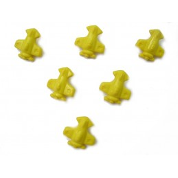 LOT 6 BOUTONS : avion jaune...
