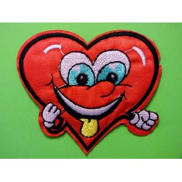 APPLIQUE TISSU THERMOCOLLANT :  coeur Disney 70 x60mm